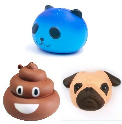 Stool panda Dog Slow Rising Squishies Scented Charms Squishy Squeeze Toy Gift US