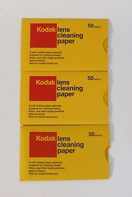 3 Kodak Lens Cleaning Paper (50 Sheets per Pack) New - FREE SHIPPING