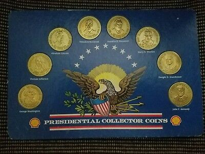 Presidential Collector Coin Set Advertising Gas Station Coins Presidents