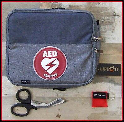 UNIVERSAL CASE For Philips Heartstart AED Fits FR2, FRX, ONSITE Scissors CPR New