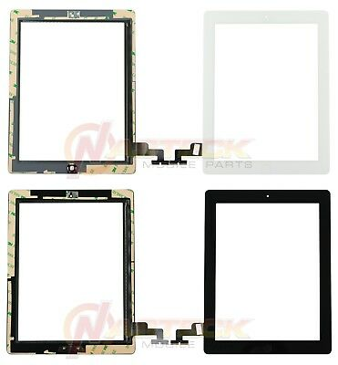 Glass Digitizer Assembly OEM Replacement + Adhesive for iPad 2 Tools Black White