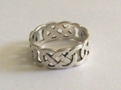 Sterling Silver 925 Mens Ring Celtic Size13