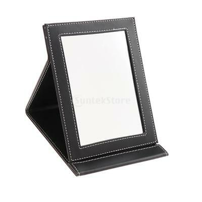 Beauty Stand Mirror Foldable Makeup Compact Mirror With PU Leather Cushioned