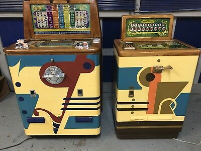 1940's Keeney's Super Bell and Twin Super Bell Slot Machines (read description)