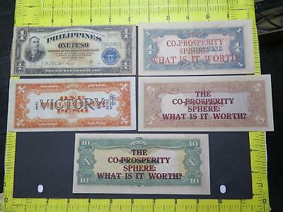 Philippines Victory Peso Leyte Stamp Co-Prosperity Sphere Banknote Collection