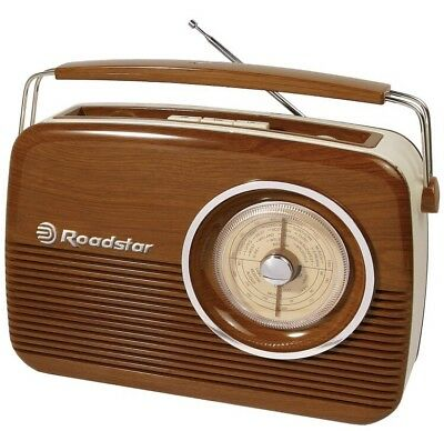 Roadstar Vintage Portable LW/MW/FM Radio - Wood