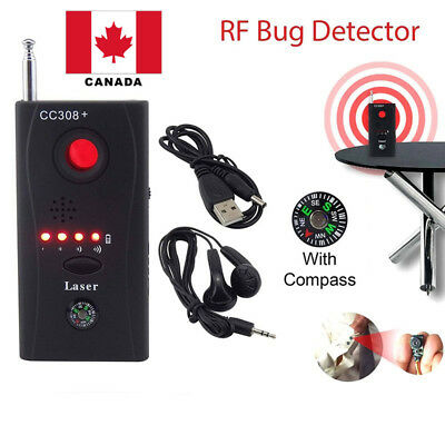 Anti-Spy RF Signal Bug Detector Hidden Camera Laser Lens GSM Finder + Earphone