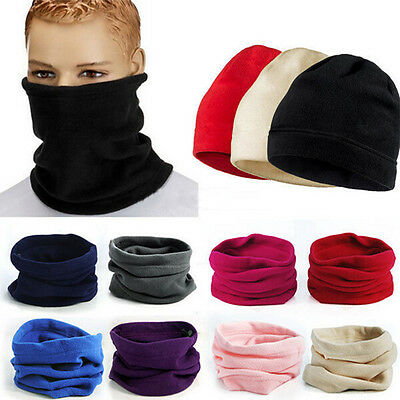 Polar Fleece Neck Warmer Snood Scarf Ski Motorbike Mask Mens Ladies Unisex RMAU