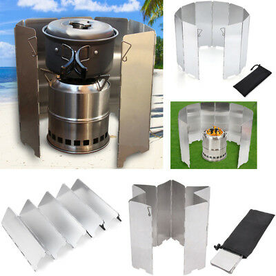 8/9/10 Plates Outdoor Camping Foldable Cooking Burner Stove Wind Shield Screen