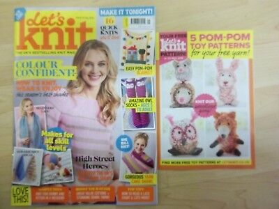 Lets knit magazine may 2018 easy to knit pom pom toys issue 131 *no wool*