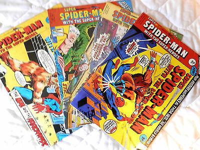 SUPER SPIDERMAN four issues Nos 159,175,195 and 196(1976)