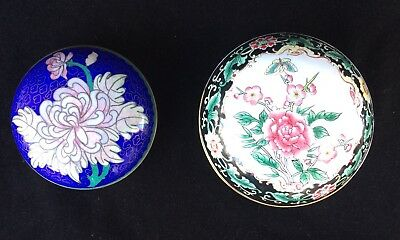 Two Antique Chinese Enamelled Boxes
