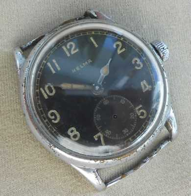 Rare! Vintage swiss mechanical military watch HELMA Deutsches Heer, 1940s