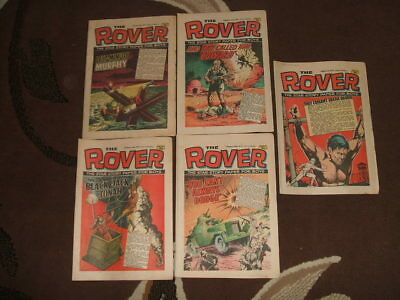 (M238) 5 Issues of The Rover Magazine - 1972