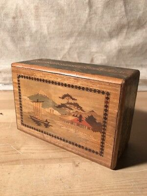 Rare Antique Japanese Wooden Puzzle / Secret Box