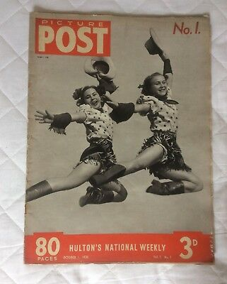 Picture Post Scarce First Issue 1 Volume 1 Number 1 , Magazine Oct1 1938