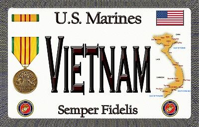 Marine - Vietnam - Tough, Durable Magnetic Sign - 6 inches X  3.75 inches