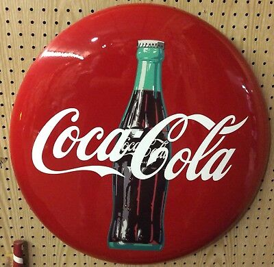 "Replica 24"" Coke Button With Bottle"