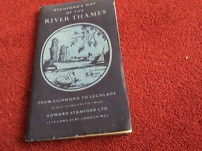 Stanford Map River Thames Richmond Lechlade Staines Twickenham Marlow Chertsey
