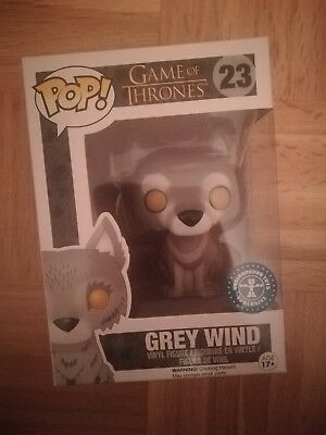 Rare Selten Funko Pop Greywind Grey Wind Grauwind Game of Thrones Exclusive