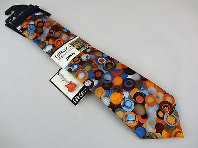 NEW Men's Jerry Garcia Orange BIRDLAND Silk Collector's Neck Tie Necktie  w/pin