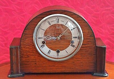 Vintage Art Deco 'Smiths Enfield' 8-Day Mantel Clock with Westminster Chimes