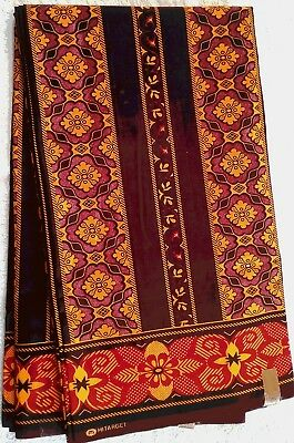 CLEARANCE SALE!!! 2yds Lovely fabric red/brown Ethnic African Ankara Hitarget