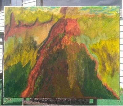 Modern canvas abstract acrylic painting 16x20 NEW
