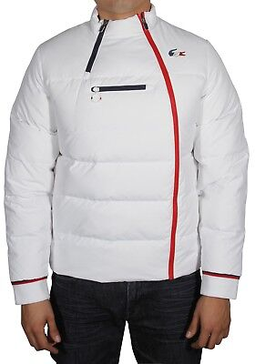 560f7e66 LACOSTE MEN'S FEATHER Down Quilted Jacket French Sporting Edition BH0602  White
