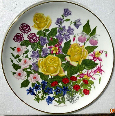 1977 Franklin Mint Flowers Of The Year Plate Collection June By Wedgwood England