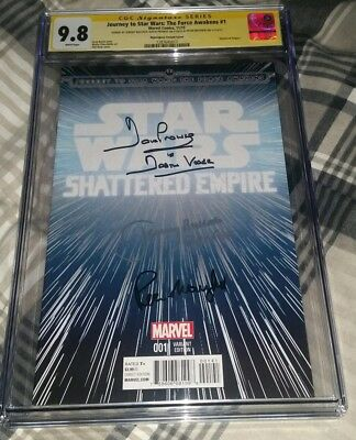 Star Wars The Force Awakens #1 SS CGC signed Bulloch Prowse Mayhew NO RESERVE