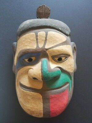 Large Wooden Japanese Mask (woodcarving, wood carving)
