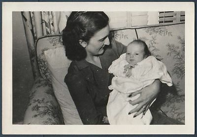 Woman Holding New Born Baby  Old/vintage Photo-Snapshot Y667