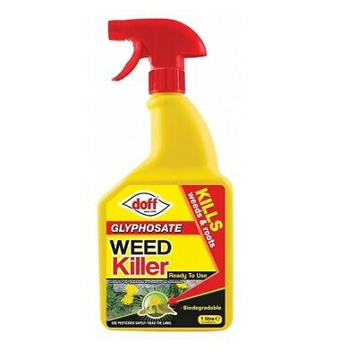 Doff Knockdown Fast Acting Paths Drives Patios Weedkiller 1ltr Kills Roots Dead