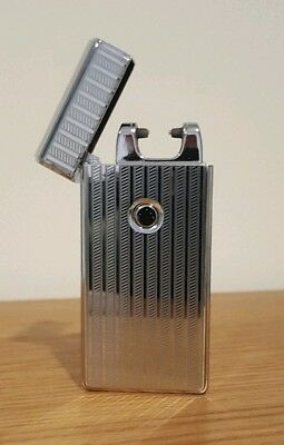 Single Arc Plasma Electric Lighter + USB Charger Cable - Silver Stripes
