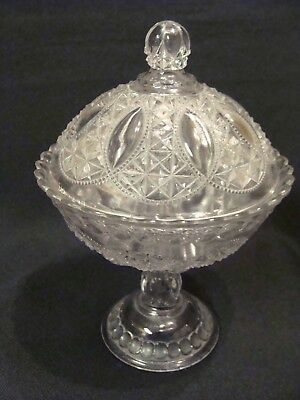 EAPG  U.S. Glass Co's Oregon Covered Compote