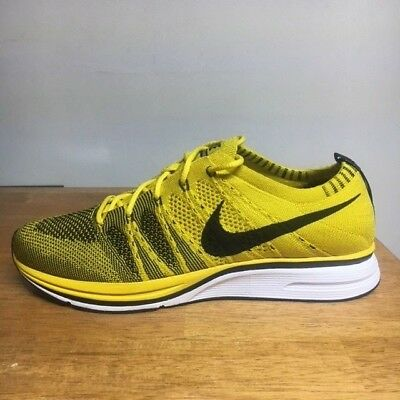 premium selection 2bfd9 66715 Nike Flyknit Trainer Bright Citron Black White New Size 8.5  AH8396-700