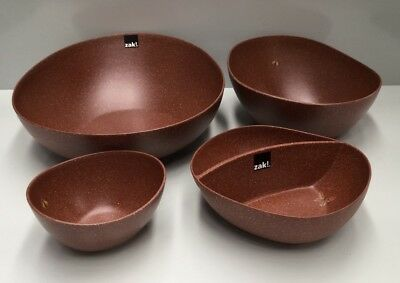 Zak Designs 4Pce Melamine Homewares Kitchen Bowl Set
