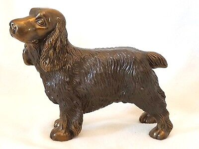Vintage Metal/Brass? Cocker Spaniel Dog Figurine