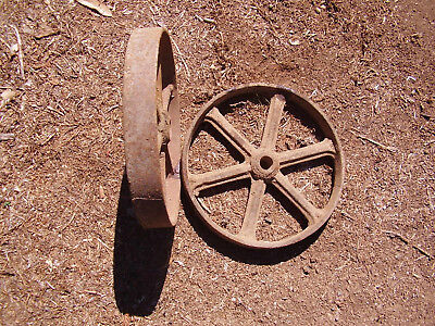 Antique machinery transport cast iron wheels