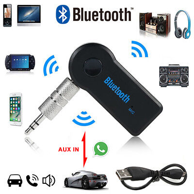 Wireless Bluetooth Receiver 3.5mm AUX Audio Stereo Music Home Car Adapter wwb