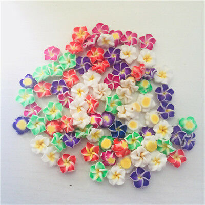 New Charms Handmade Polymer Fimo Clay Flower Spacer Beads Mixed 10mm 12mm