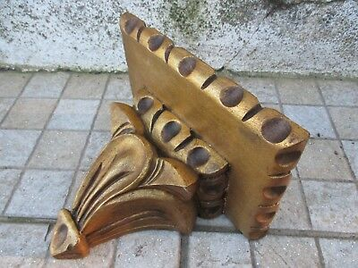 Antique or Vintage Corbel Wall Shelf Bracket Art Wood Carved Gilt Gilded