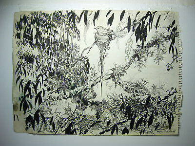 NEIL DOUGLAS Aus Artist Original double sided INK Drawing from his sketchbook