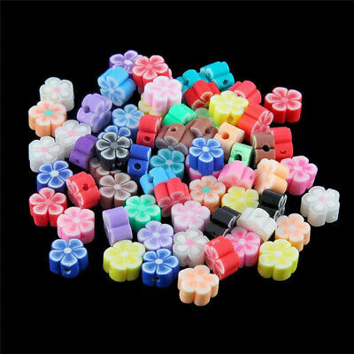 6MM-12MM! Charms Handmade Polymer Fimo Clay Star Flower Flat Spacer Beads Mixed