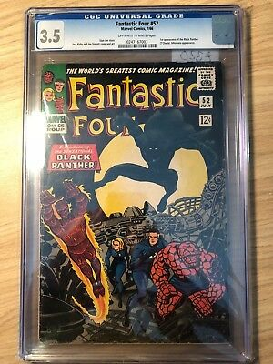 Fantastic Four #52 CGC 3.5 VG- First Appearance of Black Panther & Negative Zone