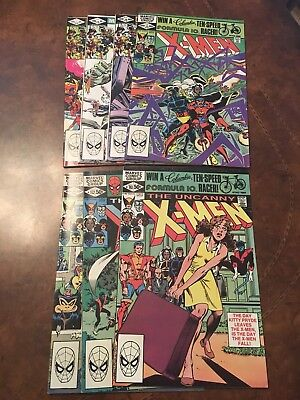 Lot of 7 Marvel The Uncanny X-Men #151-157 complete run bronze age comic books