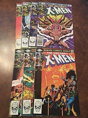 Lot of 7 Marvel The Uncanny X-Men #159-165 complete run bronze age comic books