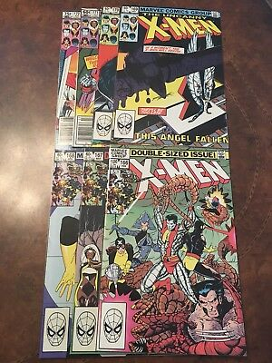 Lot of 7 Marvel The Uncanny X-Men #166-172 complete run bronze age comic books