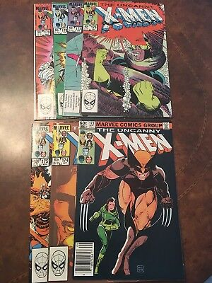Lot of 7 Marvel The Uncanny X-Men #173-179 complete run bronze age comic books